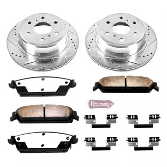 PowerStop® - 1-Click Vented Extreme Truck and Tow Rear Brake Kit W/O Calipers