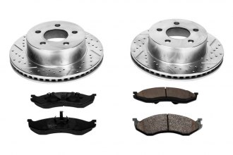 PowerStop® K2152 - 1-Click Vented Front Brake Kit W/O Calipers (280mm OD, PCD: 5x114.30)