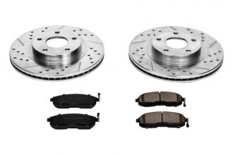 PowerStop® K2282 - 1-Click Vented Front Brake Kit W/O Calipers (296mm OD, PCD: 5x114.30)