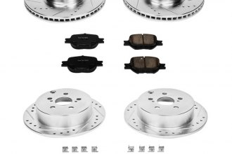 PowerStop® K2315 - 1-Click Front and Rear Brake Kit W/O Calipers (Front: 275mm, Rear: 268mm OD, PCD: Front: 5x100, Rear: 5x100)