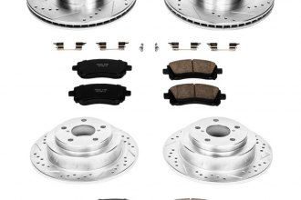 PowerStop® K2371 - 1-Click Front and Rear Brake Kit W/O Calipers (Front: 294mm, Rear: 266mm OD, PCD: Front: 5x100, Rear: 5x100)