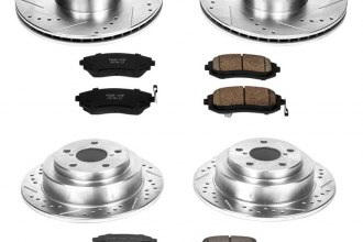 PowerStop® K2376 - 1-Click Front and Rear Brake Kit W/O Calipers (Front: 294mm, Rear: 266mm OD, PCD: Front: 5x100, Rear: 5x100)