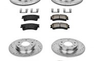PowerStop® K2449 - 1-Click Front and Rear Brake Kit W/O Calipers (Front: 282.70mm, Rear: 280mm OD, PCD: Front: 5x114.30, Rear: 5x114.30)