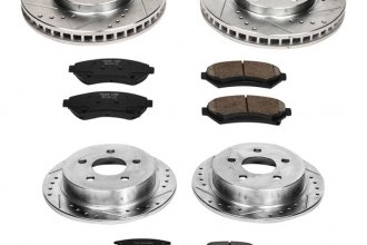 PowerStop® K2554 - 1-Click Front and Rear Brake Kit W/O Calipers (Front: 278mm, Rear: 278mm OD, PCD: Front: 5x114.30, Rear: 5x117)
