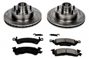 PowerStop® - 1-Click Z23 Evolution Sport Drilled and Slotted Front Brake Kit w/o Calipers