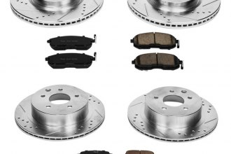 PowerStop® K2710 - 1-Click Vented Front and Rear Brake Kit W/O Calipers (Front: 296mm, Rear: 292mm OD, PCD: Front: 5x114.30, Rear: 5x114.30)