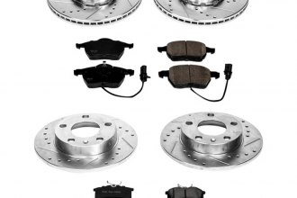 PowerStop® K2741 - 1-Click Front and Rear Brake Kit W/O Calipers (Front: 288mm, Rear: 244.74mm OD, PCD: Front: 5x112, Rear: 5x112)