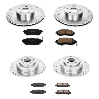 PowerStop® - 1-Click Front and Rear Brake Kit W/O Calipers