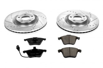 PowerStop® K2934 - 1-Click Vented Front Brake Kit W/O Calipers (345mm OD, PCD: 5x112)