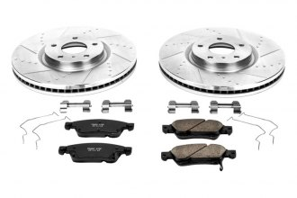 PowerStop® K3022 - 1-Click Z23 Evolution Sport Vented Drilled and Slotted Front Brake Kit