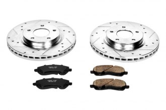 PowerStop® K3032 - 1-Click Z23 Evolution Sport Vented Drilled and Slotted Front Brake Kit