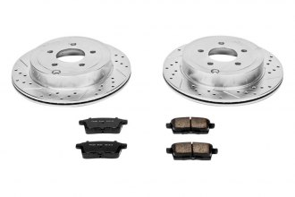 PowerStop® K3060 - 1-Click Z23 Evolution Sport Solid Drilled and Slotted Rear Brake Kit