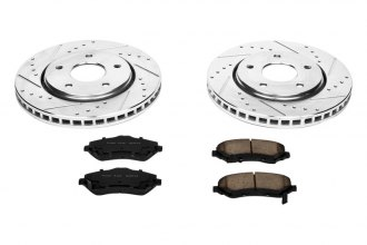 PowerStop® K3118 - 1-Click Z23 Evolution Sport Vented Drilled and Slotted Front Brake Kit
