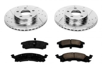 PowerStop® - 1-Click Z23 Evolution Sport Vented Drilled and Slotted Front Brake Kit