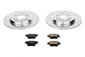 PowerStop® K4600 - 1-Click Solid Rear Brake Kit W/O Calipers (329.95mm OD, PCD: 5x114.30)