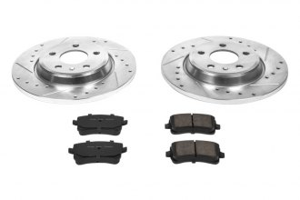 PowerStop® K4745 - 1-Click Z23 Evolution Sport Solid Drilled and Slotted Rear Brake Kit