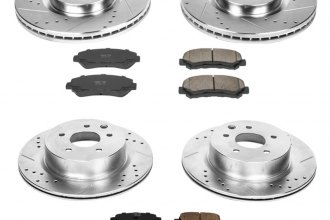 PowerStop® K6075 - 1-Click Z23 Evolution Sport Drilled and Slotted Front and Rear Brake Kit
