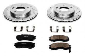 PowerStop® K681 - 1-Click Z23 Evolution Sport Vented Drilled and Slotted Front Brake Kit