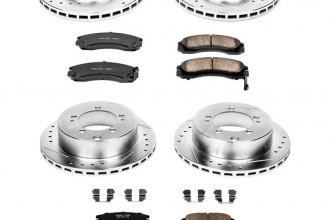 PowerStop® K800 - 1-Click Z23 Evolution Sport Drilled and Slotted Front and Rear Brake Kit