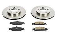 PowerStop® - 1-Click Vented OE Replacement Front Brake Kit
