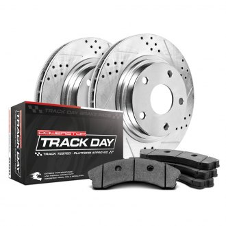 Power Stop® - Track Day Drilled and Slotted Front Brake Kit