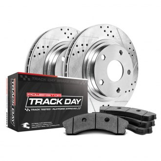 Power Stop® - Track Day Drilled and Slotted Brake Kit