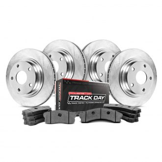 Power Stop® - Track Day Plain Front and Rear Brake Kit