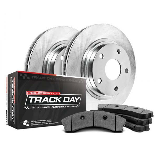 Power Stop® - Track Day Plain Front Brake Kit