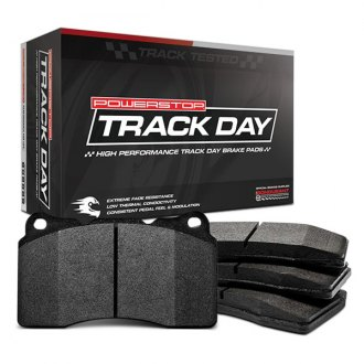 Power Stop® - Track Day Carbon Fiber Metallic Compound Front Brake Pads