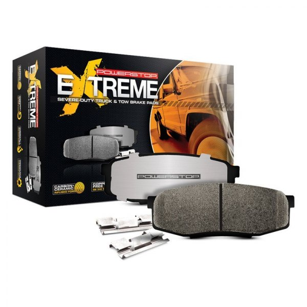 Image may not reflect your exact vehicle! Power Stop® - Z36 Extreme Truck and Tow Ceramic Front Brake Pads