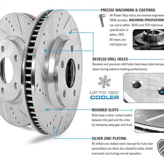 Power Stop® - 1-Click Z23 Evolution Drilled and Slotted Disc and Drum Front and Rear Brake Kit