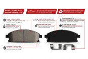 PowerStop® - Z23 Evolution Carbon Ceramic Brake Pads Features