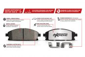 PowerStop® - Z26 Extreme Performance Brake Pads Features