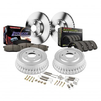 Power Stop® - 1-Click Autospecialty Daily Driver Plain Disc and Drum Brake Kit
