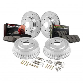 Power Stop® - 1-Click Z23 Evolution Drilled and Slotted Disc and Drum Brake Kit