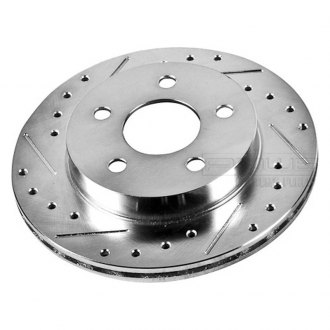 PowerStop® - Vented Drilled and Slotted Rear Passenger Side Rotor