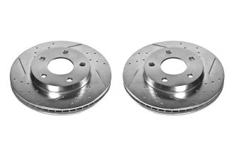PowerStop® AR8256XPR - Vented Drilled and Slotted Front Rotors (278mm OD, PCD: 5x117)