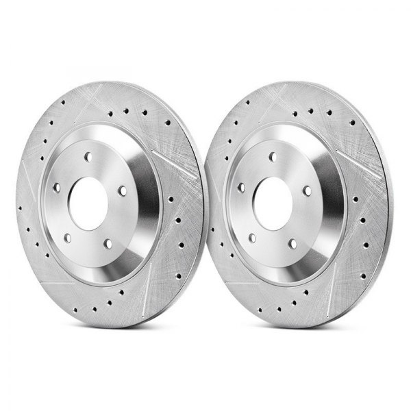 Power Stop® - Evolution Performance Drilled and Slotted 1-Piece Rear Brake Rotors