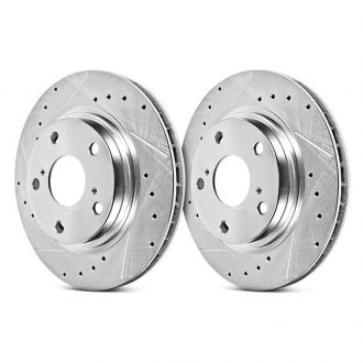 Power Stop® - Evolution Performance Drilled and Slotted Front Brake Rotors