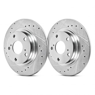 Power Stop® - Evolution Performance Drilled and Slotted Rear Brake Rotors