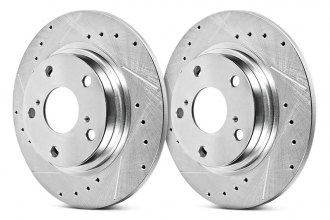 PowerStop® AR8370XPR - Evolution Drilled and Slotted Performance Solid Rear Rotors