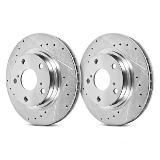 Power Stop® - Evolution Drilled and Slotted Performance Rear Brake Rotors