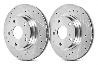 PowerStop® JBR715XPR - Evolution Drilled and Slotted Performance Rear Rotors