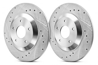 PowerStop® JBR1365XPR - Solid Drilled and Slotted Rear Rotors (286mm OD, PCD: 5x100)
