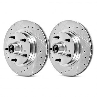 PowerStop® - Evolution Drilled and Slotted Performance Vented Front Rotors