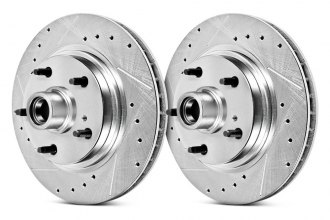 PowerStop® - Vented Drilled and Slotted Front Hub and Rotor Assemblies Brake Kit