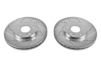 PowerStop® EBR625XPR - Vented Drilled and Slotted Front Rotors (300mm OD, PCD: 5x111.56)