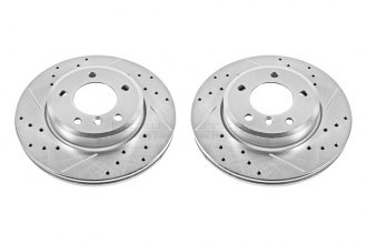 PowerStop® EBR630XPR - Vented Drilled and Slotted Front Rotors (300mm OD, PCD: 5x120)