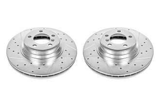 PowerStop® EBR864XPR - Vented Drilled and Slotted Front Rotors (348mm OD, PCD: 5x120)