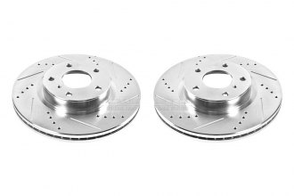 PowerStop® JBR1105XPR - Vented Drilled and Slotted Front Rotors (296mm OD, PCD: 5x114.30)